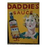 Poster de la publicidad del vintage de la salsa de postal