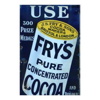 Poster de la publicidad del vintage del cacao de l cojinete