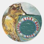 Poster de la publicidad del vintage del jabón de pegatinas redondas