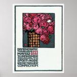 Poster de la publicidad del vintage: Rosas - Luis