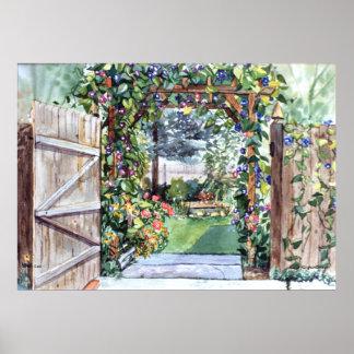 Poster de la puerta de jardín de PMACarlson