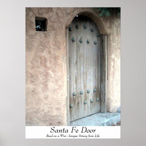 Poster de la puerta de Santa Fe