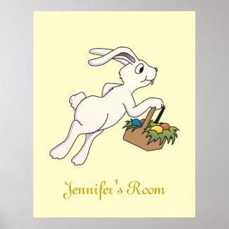 Poster de la puerta del dormitorio del conejito de