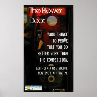Poster de la puerta del ventilador póster