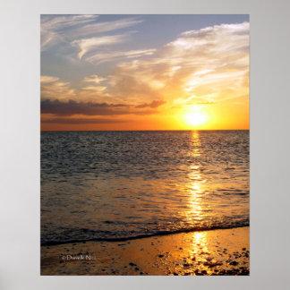 Poster de la puesta del sol de agosto