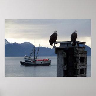 """Poster de la """"puesta del sol de Alaska"""""""
