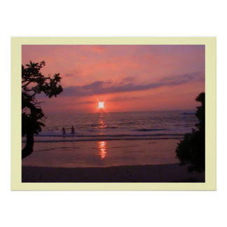 Poster de la puesta del sol de Hawaii