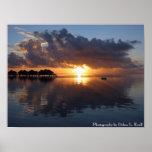Poster de la puesta del sol de Huahine