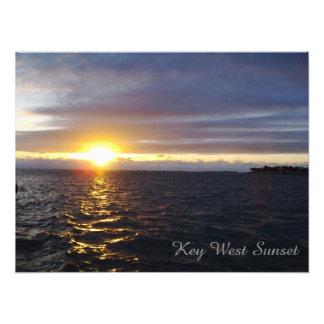 Poster de la puesta del sol de Key West Cojinete