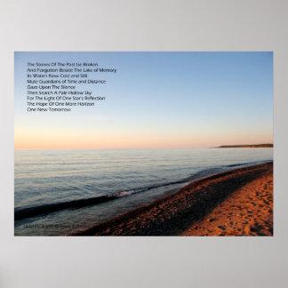 Poster de la puesta del sol de la puesta del sol