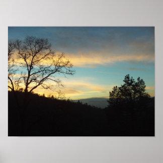 Poster de la puesta del sol de la punta de flecha