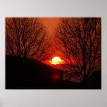 Poster de la puesta del sol de Lincolnshire