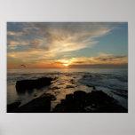 Poster de la puesta del sol de San Diego