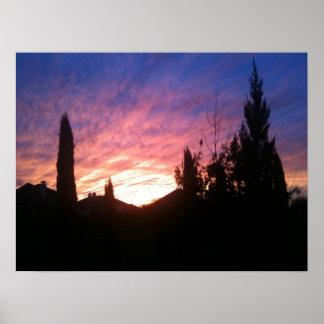 Poster de la puesta del sol de Tejas