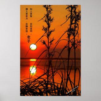Poster de la puesta del sol de Tzu del Lao