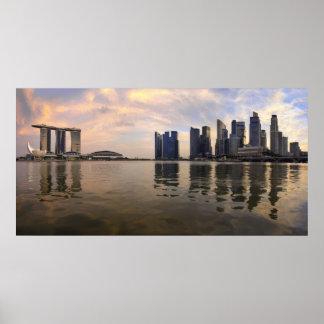 Poster de la puesta del sol del horizonte de Singa