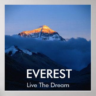Poster de la puesta del sol del monte Everest