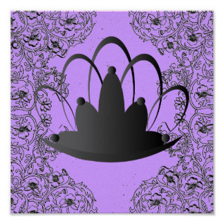 Poster de la púrpura del negro de la tiara de File