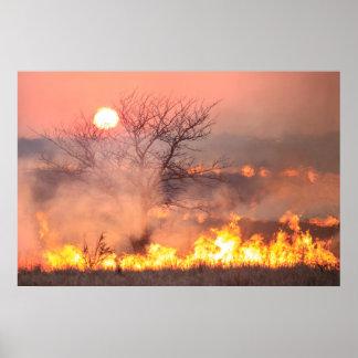 Poster de la quemadura de la pradera de Kansas de