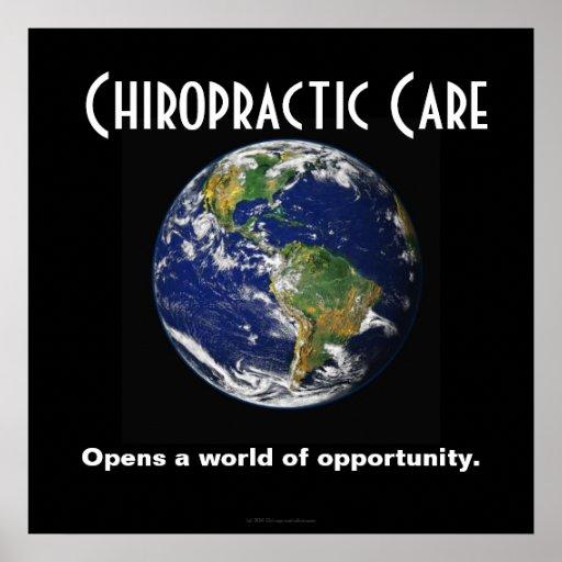 Poster de la quiropráctica: Abre un mundo de la op