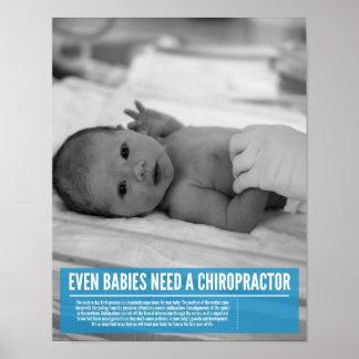Poster de la quiropráctica - ajustes de la necesid