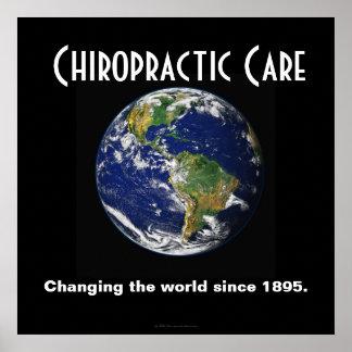 Poster de la quiropráctica: Cambiando el mundo des