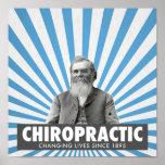 Poster de la quiropráctica - D.D. Palmer