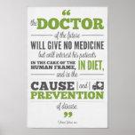 Poster de la quiropráctica - doctor de Edison del