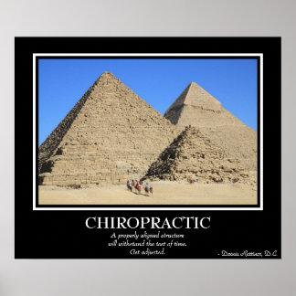 Poster de la quiropráctica - las grandes pirámides