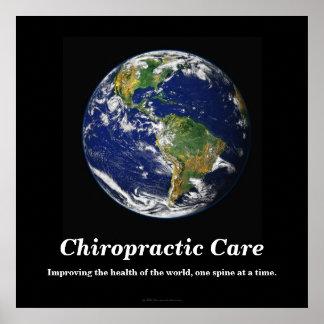 Poster de la quiropráctica: Mejora de la salud del