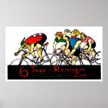 Poster de la raza de bicicleta 1914