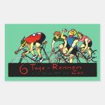 Poster de la raza de bicicleta 1914 rectangular altavoz