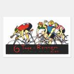 Poster de la raza de bicicleta 1914 rectangular pegatina