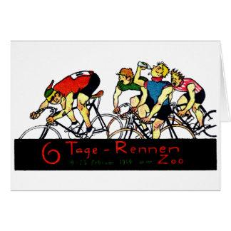 Poster de la raza de bicicleta 1914 tarjeta pequeña