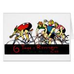 Poster de la raza de bicicleta 1914 tarjeton