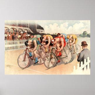 Poster de la raza de bicicleta del vintage póster
