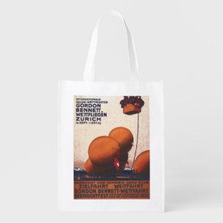 Poster de la raza del globo de aire caliente de bolsas reutilizables