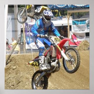Poster de la raza del motocrós