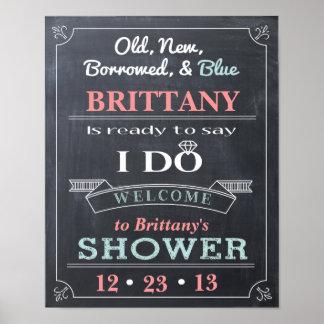 Poster de la recepción de la muestra de la ducha póster