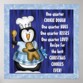 Poster de la receta de la galleta