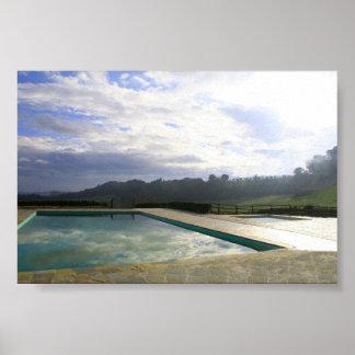 poster de la reflexión de la piscina póster