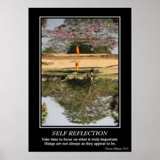 Poster de la reflexión del uno mismo - monje en An