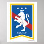 Poster de la región de Basilicata Italia