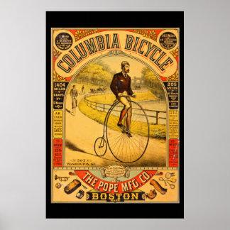 Poster de la reimpresión de la bicicleta 36 x 24