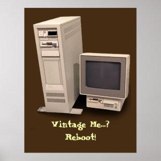 Poster de la reinicialización de la computadora de