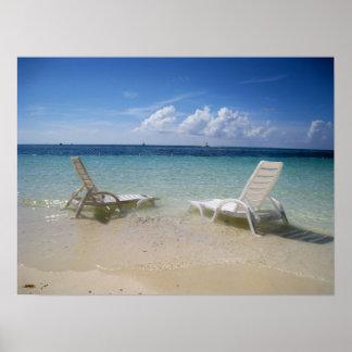 Poster de la relajación de Bahamas