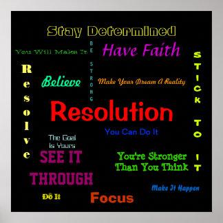 Poster de la resolución usted puede hacerlo estímu póster