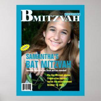 Poster de la revista de B Mitzvah en turquesa