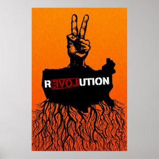 Poster de la revolución americana póster