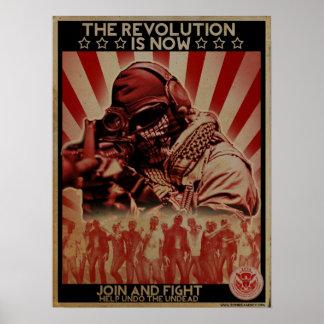 Poster de la revolución del zombi - ZETA